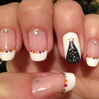 Christmas nail art / nail art Noël