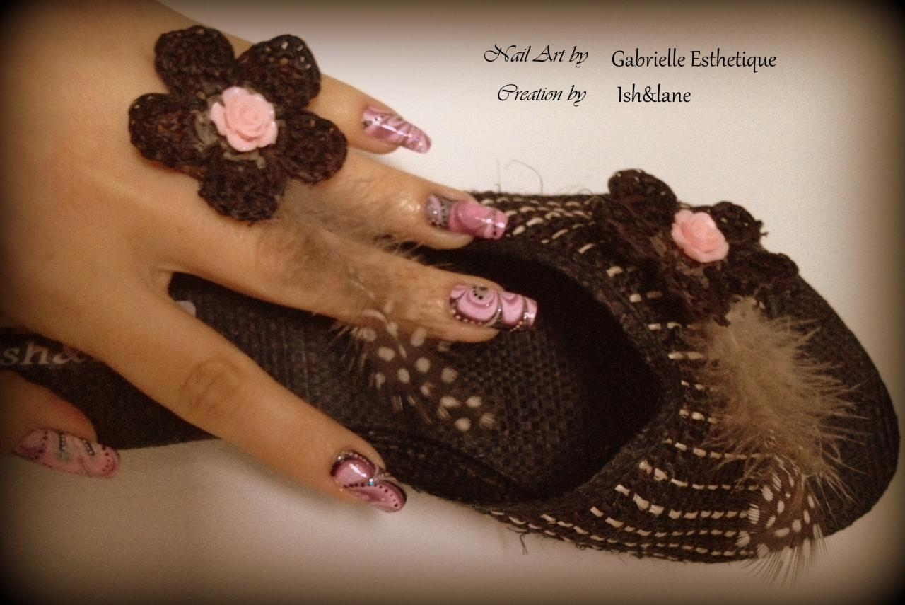 creation Ish&Lane / nail art Gabrielle Esthetique