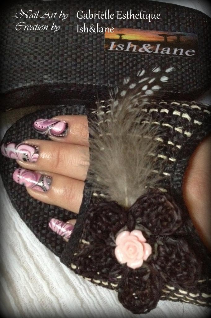creation Ish&Lane / nail art Gabrielle Esthetique