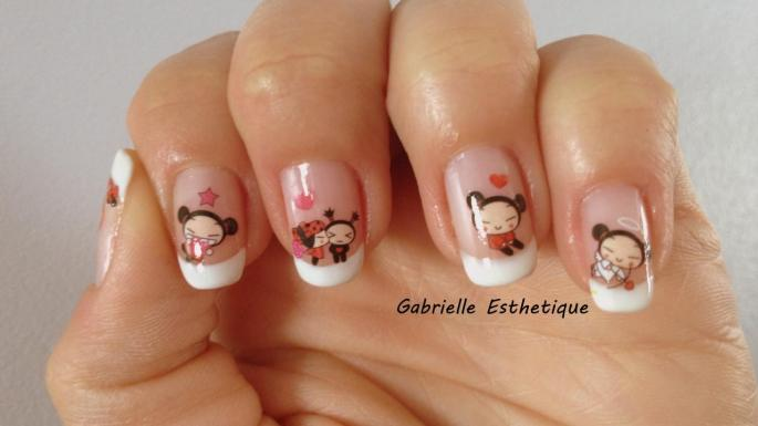 "French naturel avec ""water decal PUCCA"""