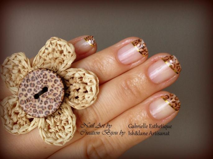 Bague et Nail Art Leopard