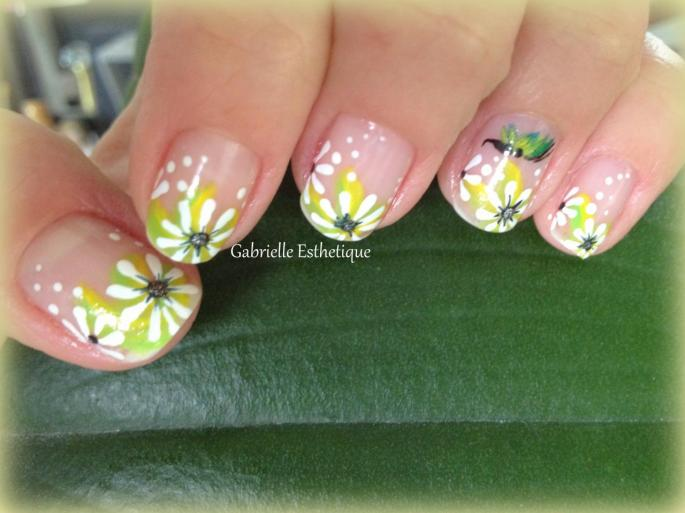Nail Art Printemps/Fleurs // Spring Flower Nail Art