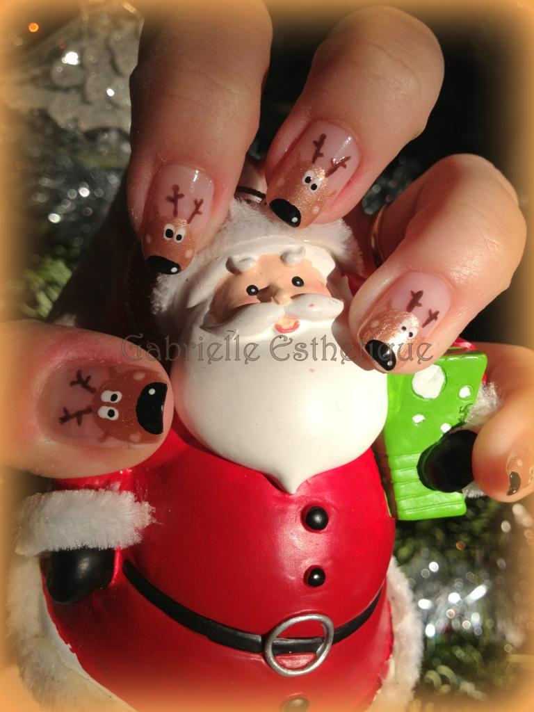 Nail Art noel avec les rennes // Christmas Nail Art with reindeer