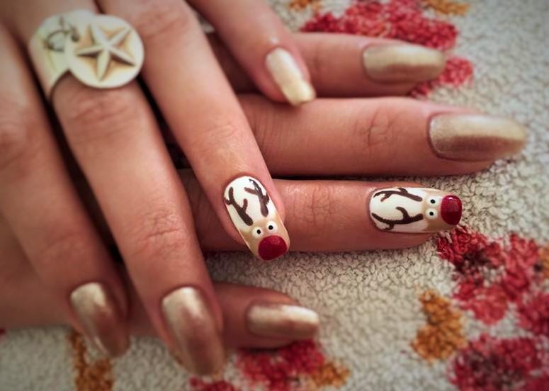 gabrielle esthetique nail art noel