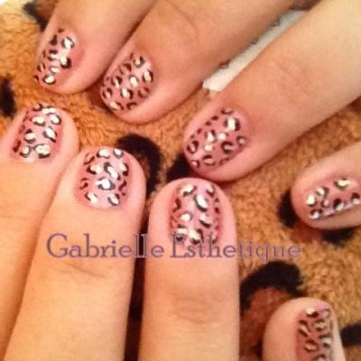 Nail Art Print Leopard