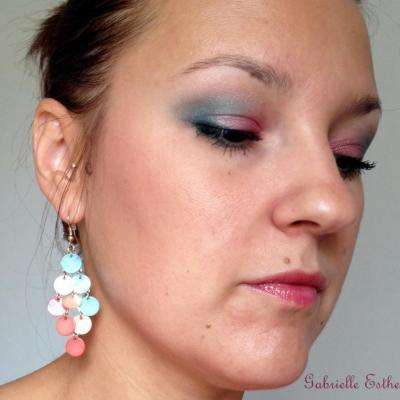 maquillage Rose et Turquoise