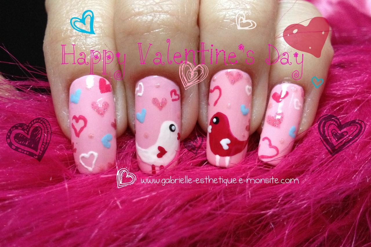 Nail Art St Valentin