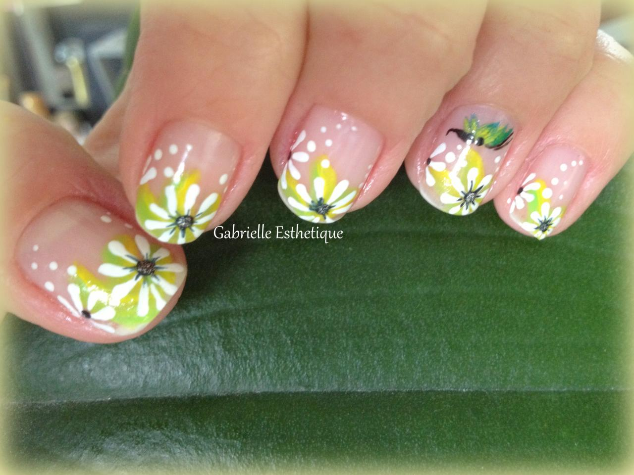 Nail Art Printemps/Fleurs // Spring Flower Nail Art