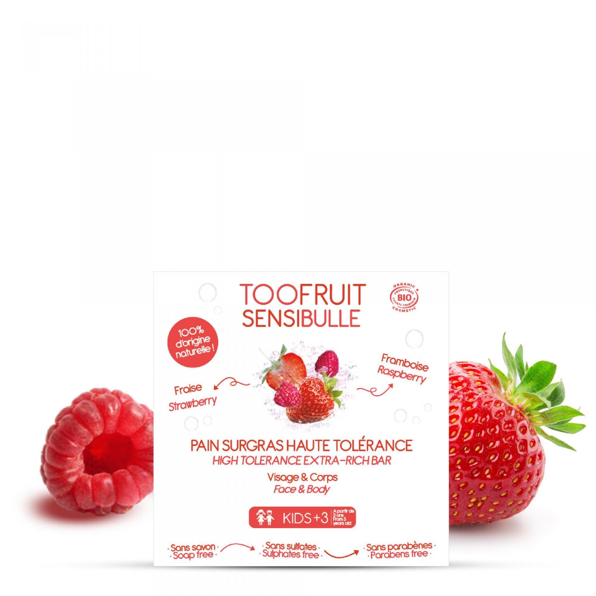 Pain surgras bio enfants framboise fraise