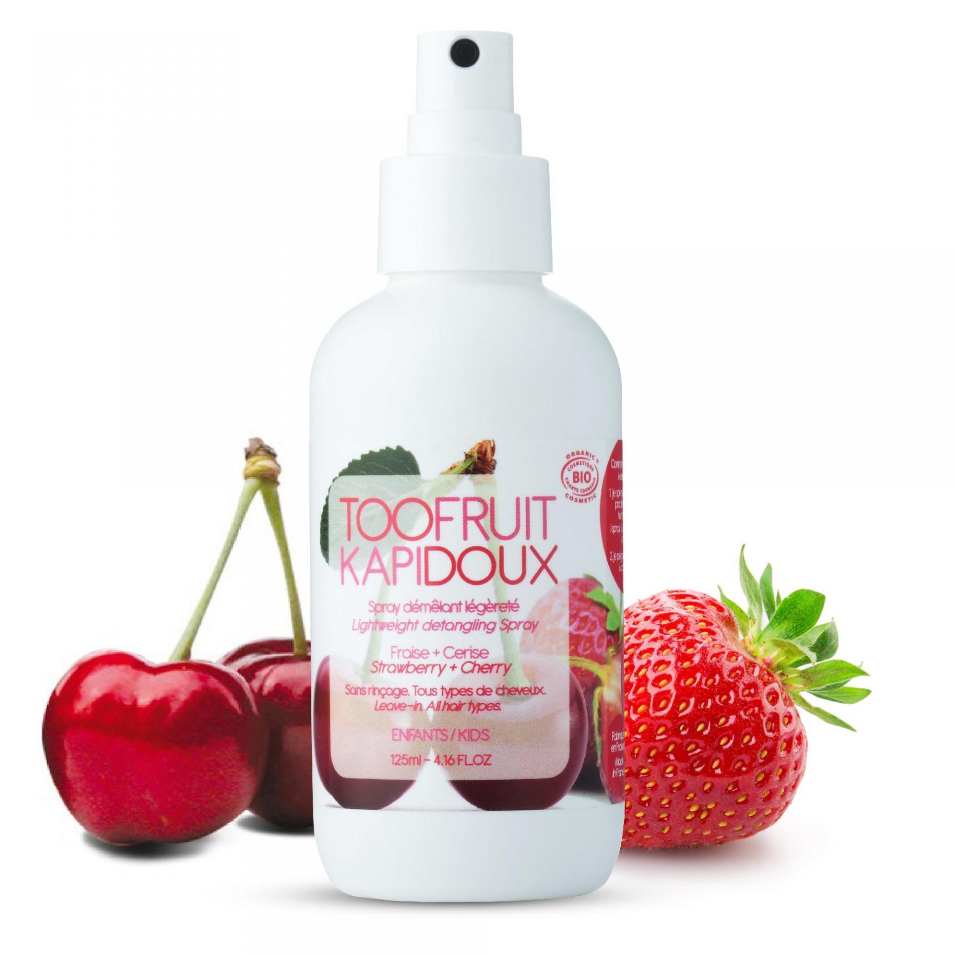 Spray demelant bio enfants fraise cerise